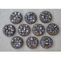 Lote 10 peanas 25mm redondas 'Embaldosado en Ruinas'