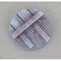Peana 'Metalik' redonda 40mm modelo 1