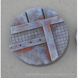 Lote 5 peanas 'Metalik' redondas 25mm