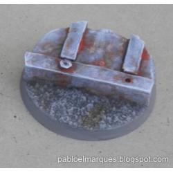 Peana 'Metalik + Asfalto' redonda 40mm modelo 1