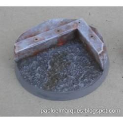 Peana 'Metalik + Asfalto' redonda 40mm modelo 2