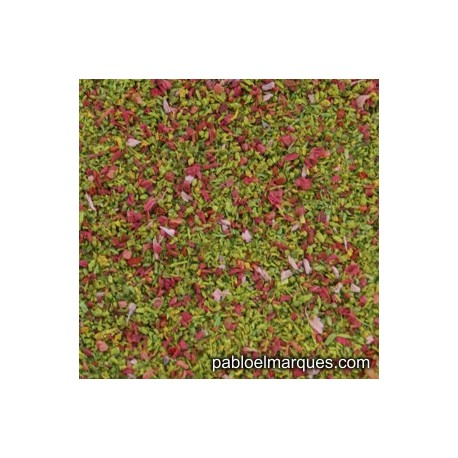 MP-114 meadow blend: spring green with pink flowers
