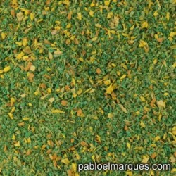 MP-132 meadow blend: spring green with yellow flowers