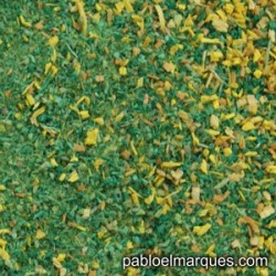 MP-142 meadow blend: spring green with yellow flowers