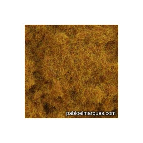 C-417 césped electrostático marrón anaranjado