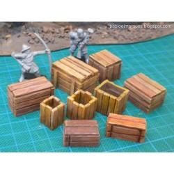 Lote '9 modelos' cajas de mercancias