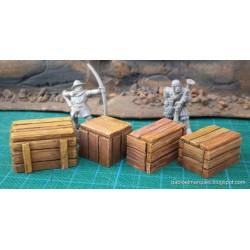 Lote 4 cajas 'grandes' - cajas de mercancias